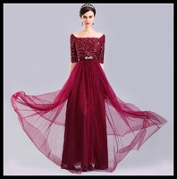 Free shipping Hot sale  New arrive women Blue Evening  partys dresses long prom dresses