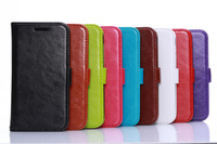 2014 New Arrival Genuine Sheep Leather Case For Motorola Moto E Wallet card Slots Cover Case With Magnetic button 1 pieces/lot