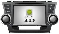 Pure Android 4.4 8 inch Car DVD GPS Car Stereo For Toyota Highlander 2008 2009 2010 2011 2012 GPS Navi Radio Waze OBD2 Bluetooth