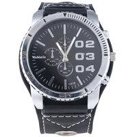 5 Colors for Choice Stylish Unisex Leisure Huge Big Dial Leather Band Quartz Wrist Watch for  Women Men Wristwatchs