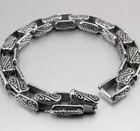 Dragonkind totem titanium steel bracelet with men
