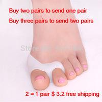 feet care Hallux valgus orthotics Toe separator corrective insoles Toes cloven device health care