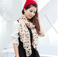 free shipping 2014 Korean wild ladies large print chiffon scarf long scarf shawl sun