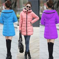 New 2014 Winter jacket Women Outerwear Slim Hooded Down Jacket Women Warm Down Coat  Parka Winter Coat 8 Colors Plus Size XXXL