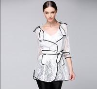 As early as the autumn 2014 new windbreaker jacket Slim lady long coat Women NDC117 Y9W