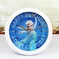 Frozen Elsa Princess Small Bedside Alarm Clock Creative Fashion Clock Sit Mute On Desktop Time Teacher Alarm Clock 10pcs/Lot