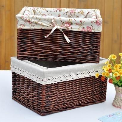 Shang Ju Youpin rattan pastoral cloth not cover large storage box finishing box storage box under the bed drawer IKEA(China (Mainland))