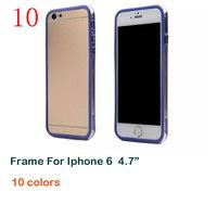 "For Apple iPhone 6 4.7"" EMS Free Shipping case frame border fashion frame border tpu soft case - wholesales ip6015"