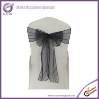 100pcs 3557 black chair sashes sparkle organza  material
