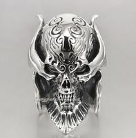 L the evil vampire Lord skull ring Male, 925 silver