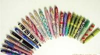 Hot Sale Handmade crystal rhinestone pen 50PCS/LOT crystal bling ball pen Free shipping +37Colors Cheap Wholesale