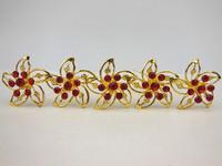 60 Pcs/lot Wedding Bridal Gold Windmill Red Rhinestone Crystal Women Hair Pins