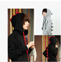 free shipping fall winter new hooded CARDIGAN SWEATER MENS dinosaur coat hip-hop boys S-XXXL