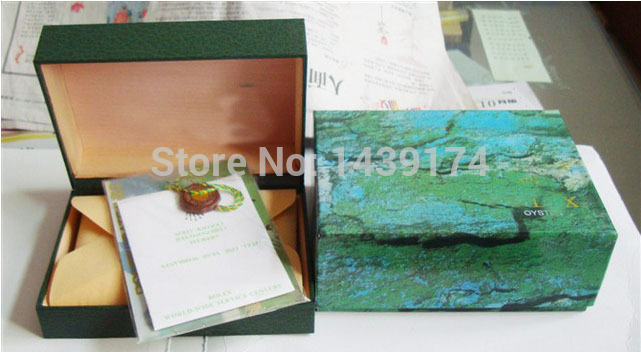 Hot new Fashion Casual RX Green Wood Watch Boxes(China (Mainland))