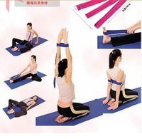 1PCS 183cm Yoga Stretching Stretch Strap D-Ring Pilates Belt Figure Waist Leg Fitness Exercise Gym Free Shipping