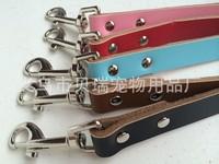 Free Shipping 10pcs/lot 5 Colors 2 Sizes Plain Leather Dog Pet Leashes