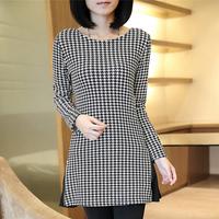 2014 Women's  Han edition knit coat thickening and velvet chiffon render  long-sleeved jacket unlined upper garment