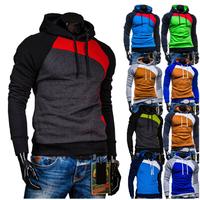 2014 winter color set new men's head raglan sleeves Velour Hoodie