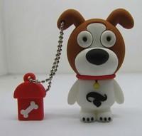 Free Shipping Pen Drive Dog Full Capacity 1GB/2GB/4GB/8GB/16GB/32GB/64GB Animal USB Flash Drive