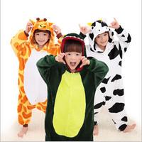 Hot Unisex Children Onesies Fashion Pajamas Animal Pyjamas Anime Robe Cosplay Costumes Animal Sleepwears Kids Onesies