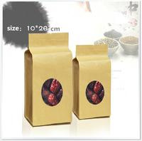 Wholesale 10*26*6cm  visual kraft paper food bags with window  / Tea bags