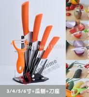 "High Quality 6-in-1 3"" 4"" 5"" 6"" + Ceramic Peeler + Knife holder High-techEco-friendly Zirconia kitchen Fruits Ceramic Knives set"