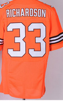 Free Shipping Cleveland American Football #33 Trent Richardson Jersey Sewn Elite Jerseys