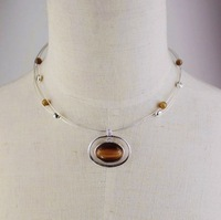 Exquisite brown opal stone necklace, woman bontique jewelry accessory, 2.19453.Free shipping