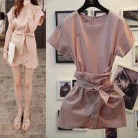 Free Shipping 2014 za*  Temperament Dresses Saia shorts women with lining OL vintage peplum American Apparel Autumn -Summer