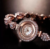 15 Royal Crown Fortune gold-plated heart female bracelet watch Hot Fashion Ladies Quartz Watches women's luxury waterproof