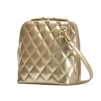 2014 fashion Lingge Korean patent leather female bag shoulder bag shell bag gold Quilting messenger bag small woman handbag