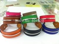 colors luxury 100%  authentic wholesale new fashion bracelet  jewelry   leather design bangle