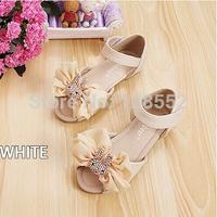 Children shoes 2014 summer girls shoes bow lace girls princess sandals child sandals