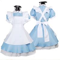 Alice in Wonderland fantasy lolita cosplay maid costume elsa fantasy princess anna frozen halloween costumes for women