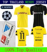 A+++ REUS Immobile Yellow 3RD CHAMPIONS LEAGUE 2015  14 15 BORUSSIA DORTMUND BVB Top Men Soccer Jersey Thailand Shirt