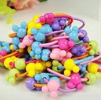 YBB Z010 Korean hot children hair rope ring headdress rainbow rubber band