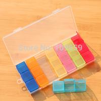 Free shipping colorfull pill box case/Drug holder, pill case Organizer Container 21 lattice,CY-PCS10