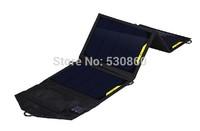 16W 5V Flexible top folding solar charger Single USB Portable Power