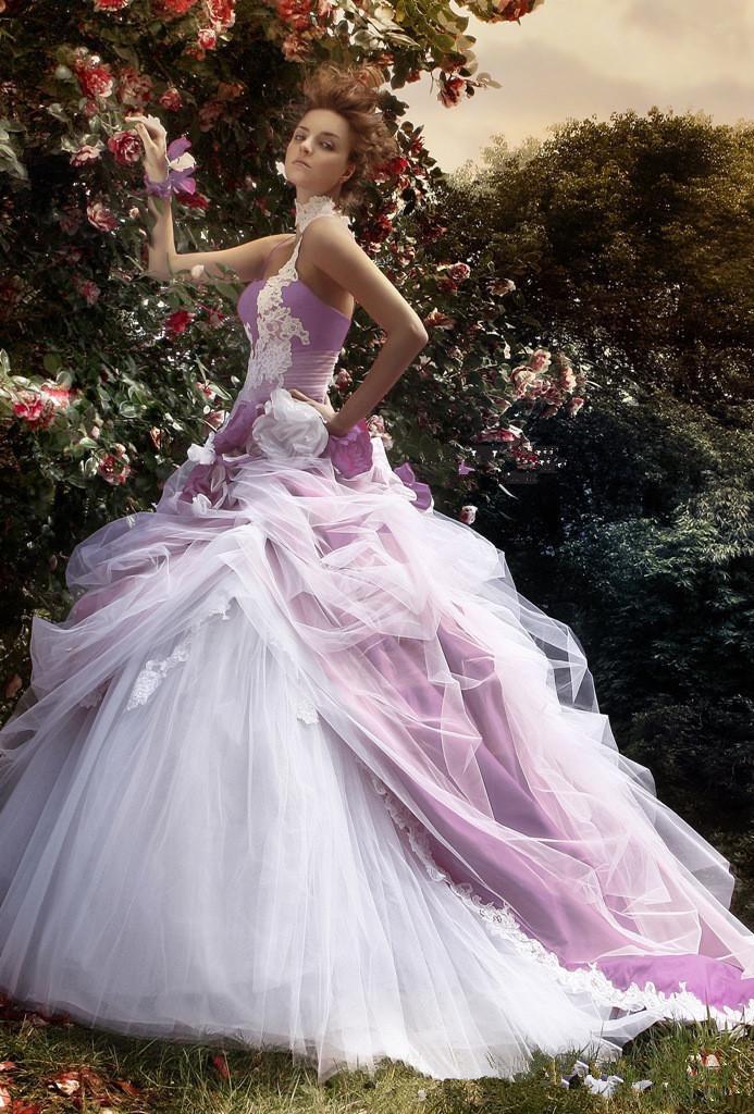 Online Get Cheap Purple White Wedding Dress Aliexpress