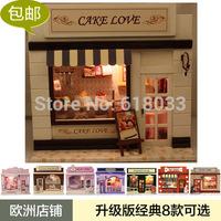Diy cake mini handmade small house model diy toy