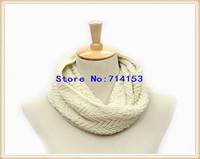 2014 twist pattern hand kniting infinity scarf