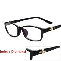 2014 new diamond fashion student Women/men uv400 Optical Frame Spectacles Eyeglasses Frame Glasses