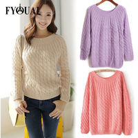 FYOUAI New Women Sweater Autumn Winter Lady Sweater Slim Wool Sweater Causal Fashion Coat Woman Top Clothing