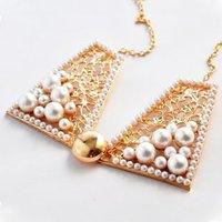 622#Min.order is $10 (mix order), elegant metal hollow collar necklace pearl bow temperament false Collar Necklace.