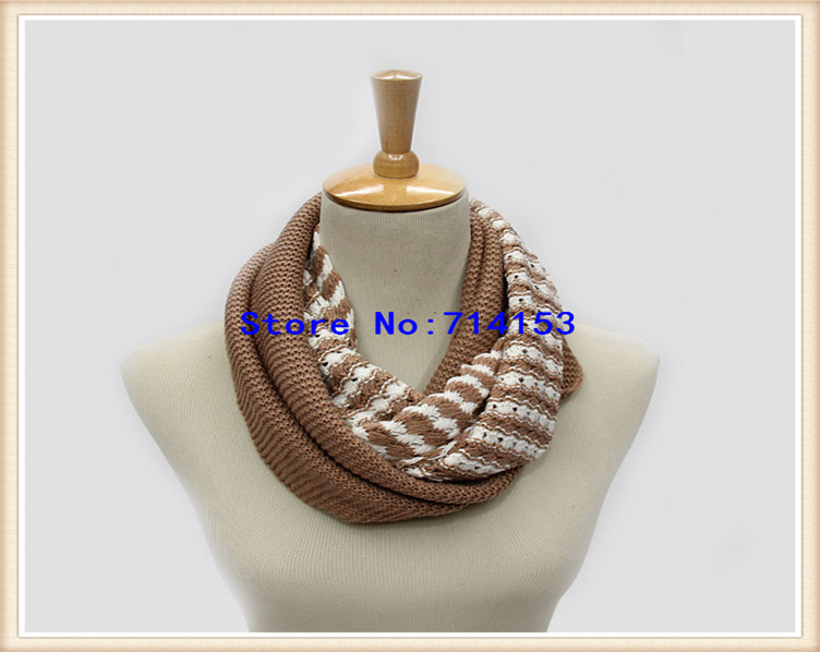 2014 colorful infinite infinity cheap winter scarf(China (Mainland))