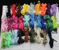 100 Pieces /  Lot  57 Colors Of 1.2 M *0.8 CM Manufacturer  White Canvas Shoes Leisure Long Flat LACES Short Basketball Shoes