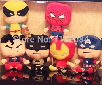 Мстители, В версии человек - паук, Супермен, Халк, Плюшевые игрушки, Куклы, Детская подарок на день рождения