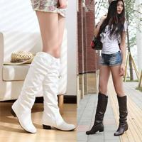 2014 winter boots large size women plus velvet boots flat  size 34 ~ 43