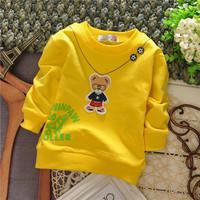 unisex girls cartoon bear hoody fashion baby boys children sweatshirts hoodies drop shippig KT268R