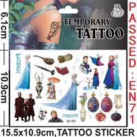 Wholesale - Frozen Theme Queen Anna Elsa Cartoon Temporary Tattoos Stickers Frozen Waterproof Tattos Stickers 20pcs/Lot Fast Fre